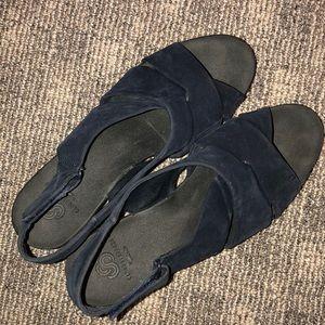 Clark's blue sandals